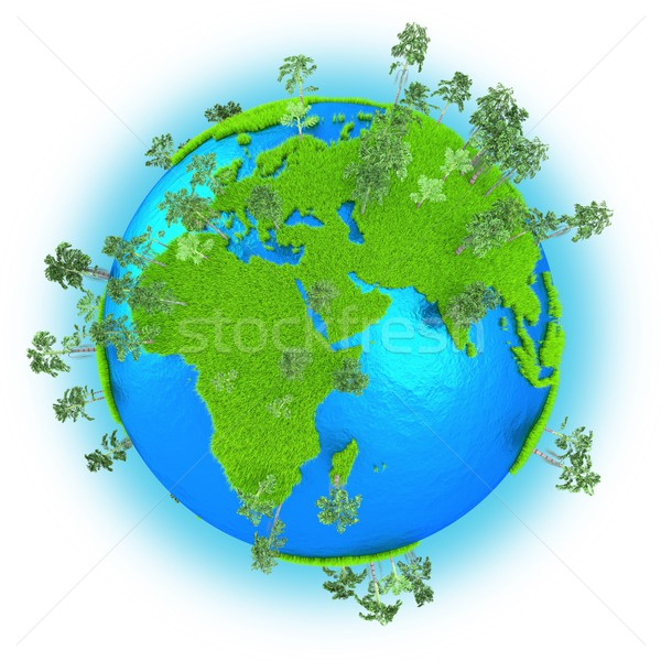 Africa, Europe and Western Asia on planet Earth Stock photo © Harlekino