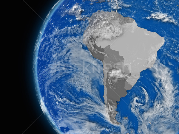 south american continent on political globe Stock photo © Harlekino