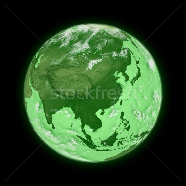 東南アジア 緑 地球 孤立した 黒 ストックフォト © Harlekino