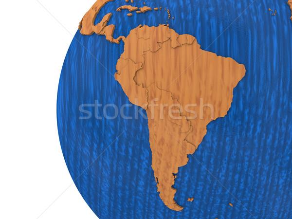 América del sur tierra modelo planeta tierra continentes Foto stock © Harlekino