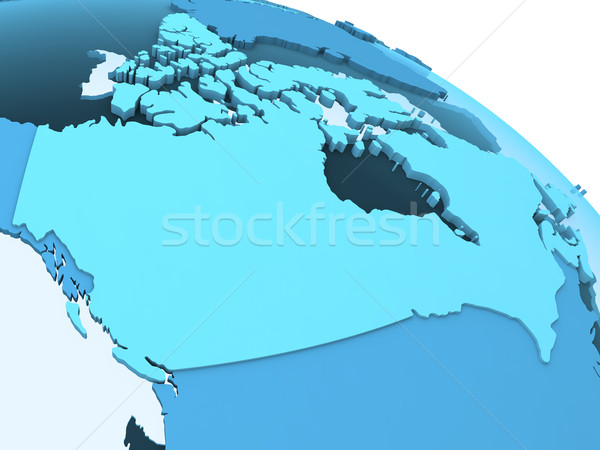Canada on translucent Earth Stock photo © Harlekino
