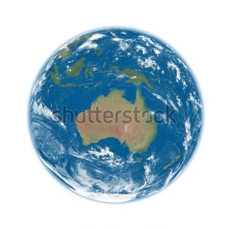 Австралия синий земле планете Земля изолированный белый Сток-фото © Harlekino