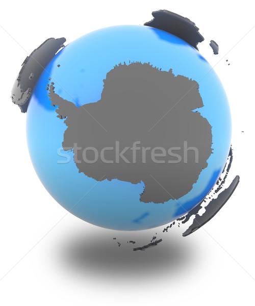 Antarctic on the globe Stock photo © Harlekino