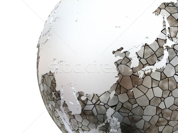 Ázsia áttetsző Föld Délkelet-Ázsia fémes modell Stock fotó © Harlekino
