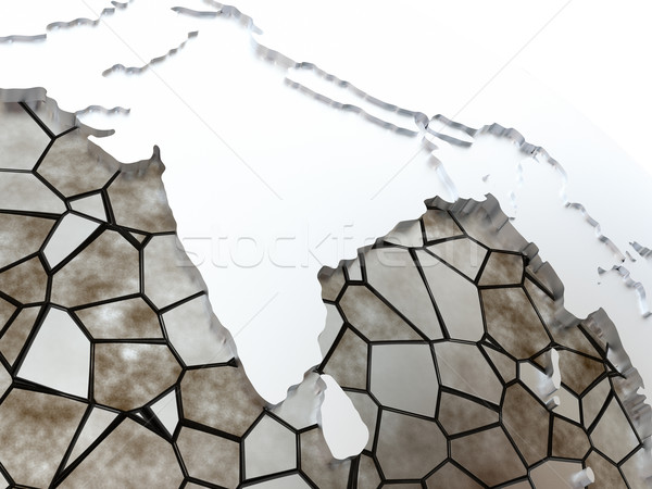 India on translucent Earth Stock photo © Harlekino