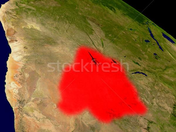 Botswana from space Stock photo © Harlekino
