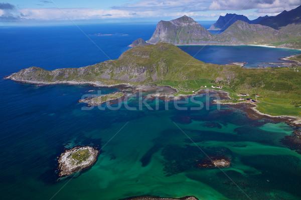 ノルウェーの 海岸 水 風景 夏 ストックフォト © Harlekino