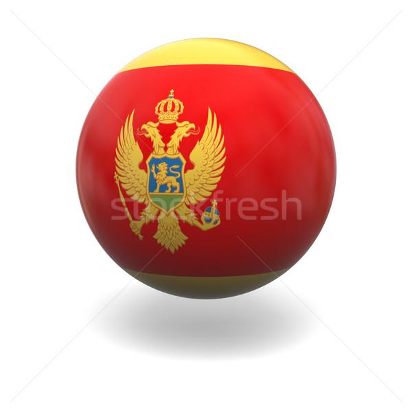 Сток-фото: Черногория · флаг · сфере · изолированный · белый · графика