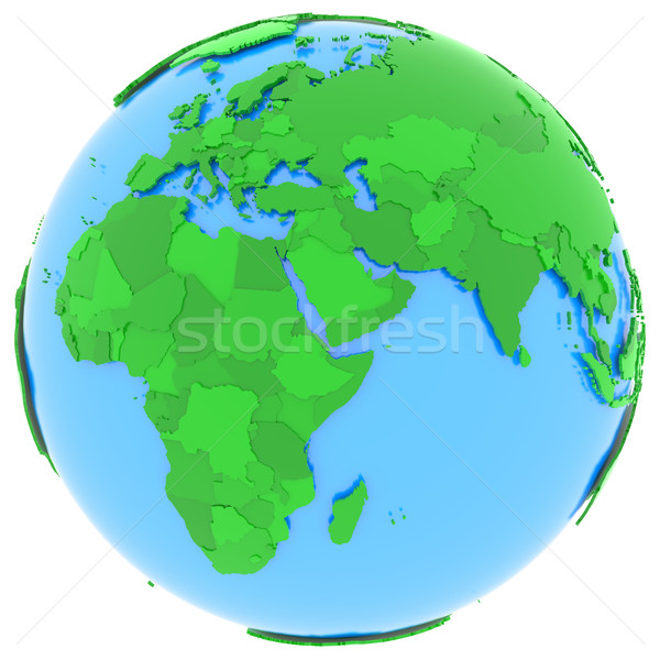 Europe and Africa on Earth Stock photo © Harlekino