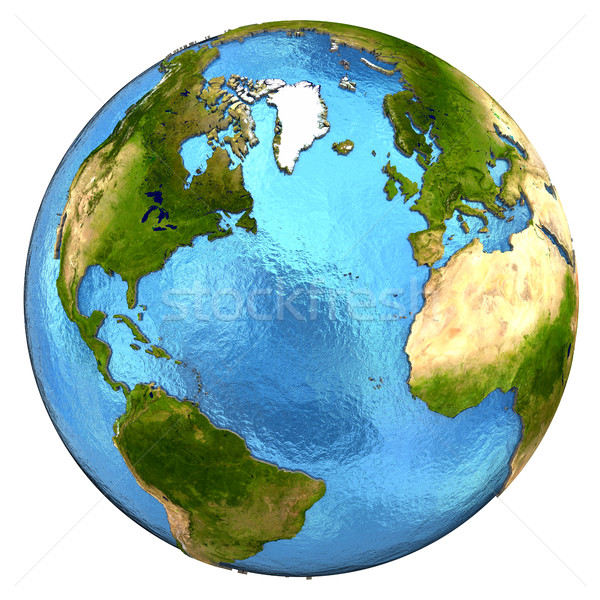 North America and european continent on Earth Stock photo © Harlekino