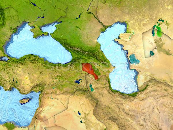 Armênia vermelho ver região ilustração 3d Foto stock © Harlekino