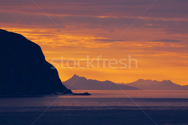 Mezzanotte sole Norvegia estate polare Foto d'archivio © Harlekino