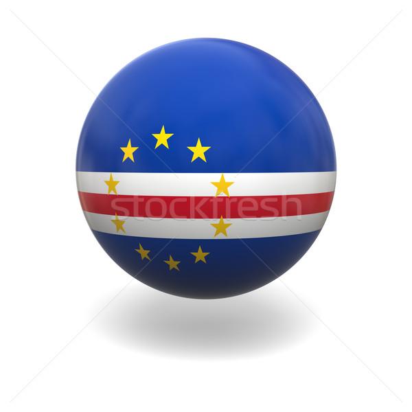 Сток-фото: флаг · сфере · изолированный · белый · графика