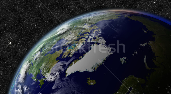 Arctic from space Stock photo © Harlekino