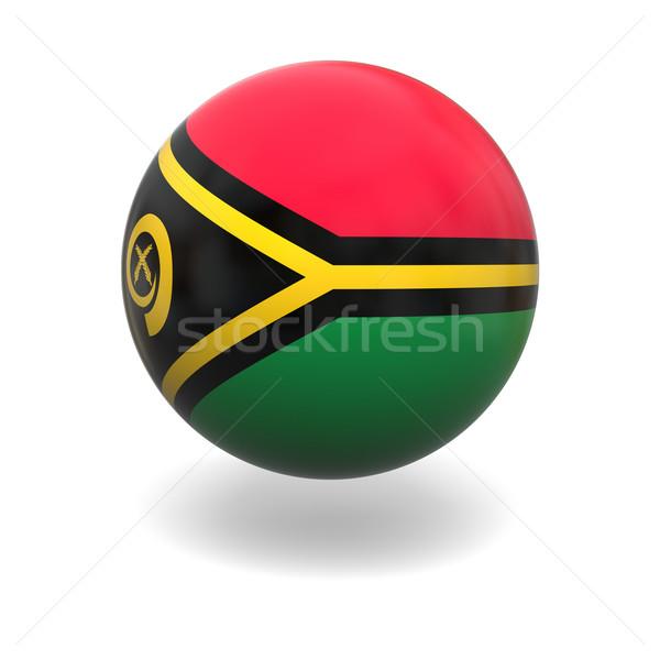 Vanuatu bandeira esfera isolado branco Foto stock © Harlekino