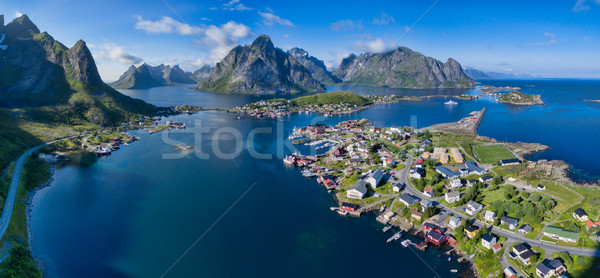 Reine aerial panorama Stock photo © Harlekino
