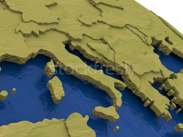 Italy on model Earth Stock photo © Harlekino