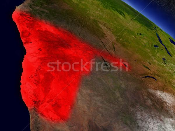 Namíbia espaço vermelho ilustração 3d Foto stock © Harlekino