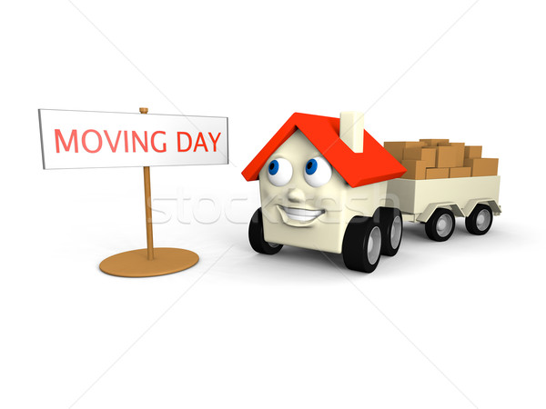 Moving house Stock photo © Harlekino