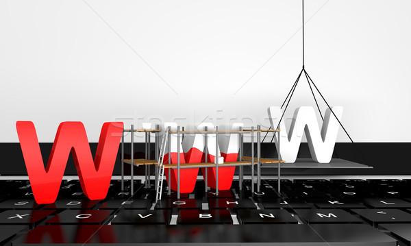 сайт строительство письма WWW Top клавиатура Сток-фото © Harlekino