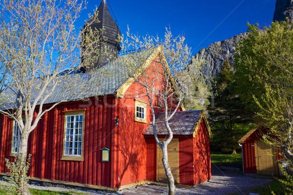 Сток-фото: старые · Церкви · красный · Норвегия