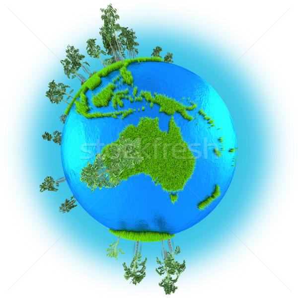 Stock photo: Australia on planet Earth