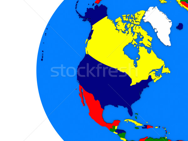 north american continent on political globe Stock photo © Harlekino