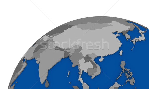 southeast Asia on Earth political map Stock photo © Harlekino