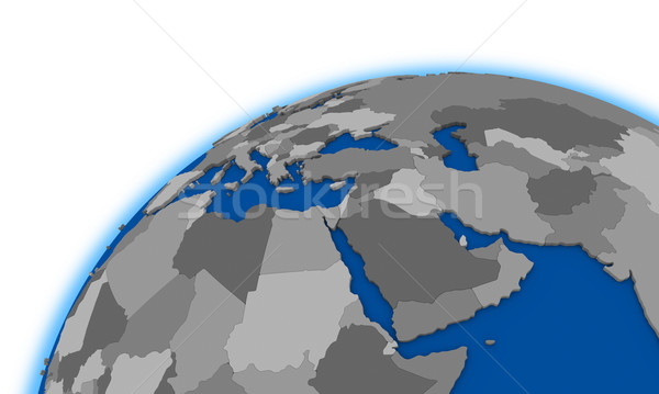 middle east region on globe political map Stock photo © Harlekino
