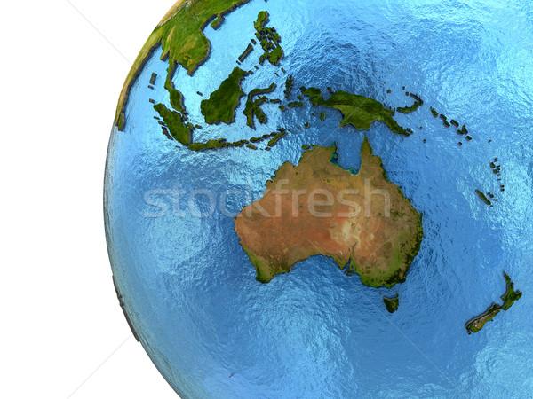 Continent terre détaillée modèle planète terre continents Photo stock © Harlekino