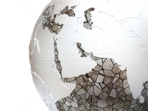 ストックフォト: 中東 · 地球 · 地域 · メタリック · モデル