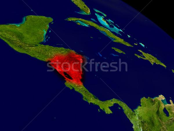 ニカラグア スペース 赤 3次元の図 詳しい ストックフォト © Harlekino