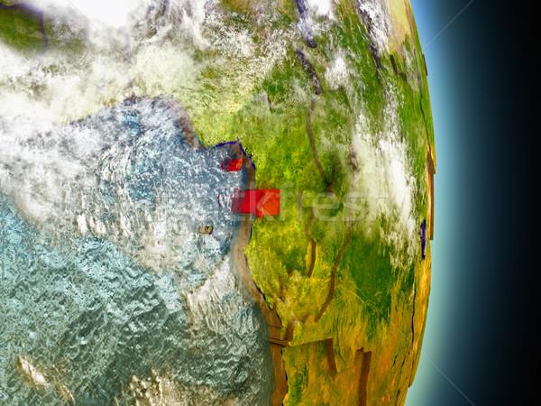Rood ruimte model 3d illustration Stockfoto © Harlekino