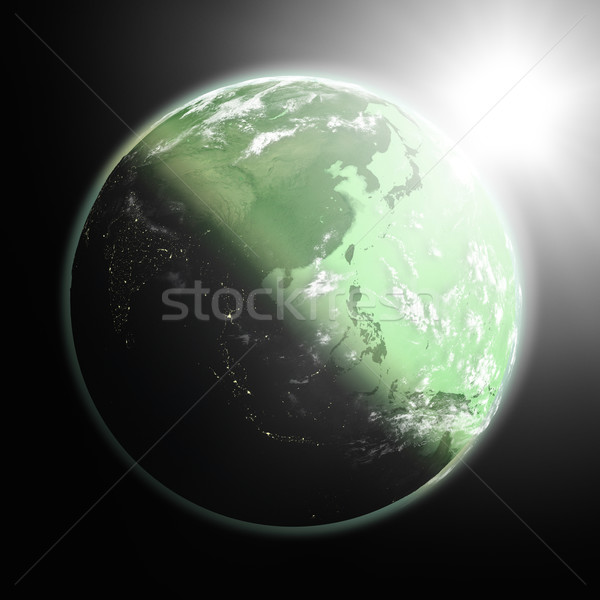 Sunrise over southeast Asia Stock photo © Harlekino