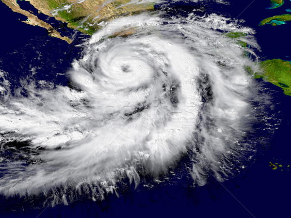 ураган иллюстрация Мексика Элементы изображение небе Сток-фото © Harlekino
