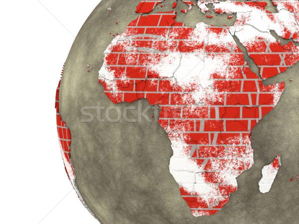 Stockfoto: Afrika · muur · aarde · model · aarde · continenten