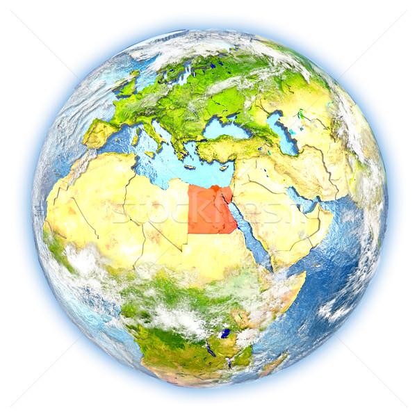 Egyiptom Föld izolált piros Föld 3d illusztráció Stock fotó © Harlekino