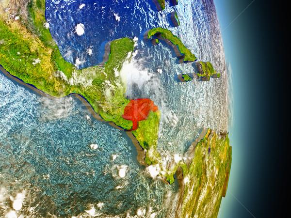 Honduras in red from space Stock photo © Harlekino