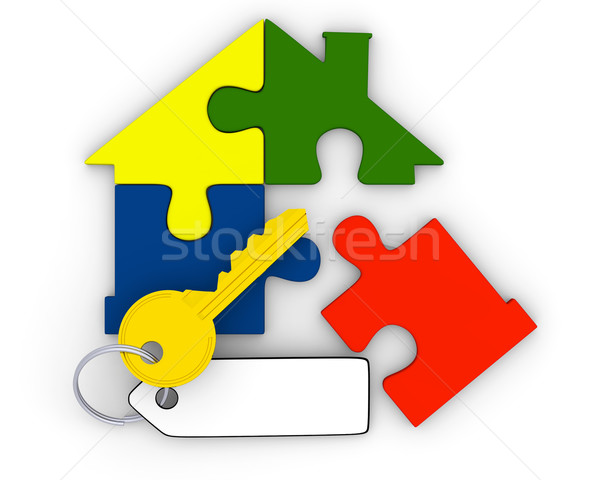 Key from puzzle home Stock photo © Harlekino