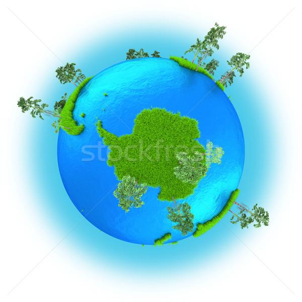 Antarctic on planet Earth  Stock photo © Harlekino
