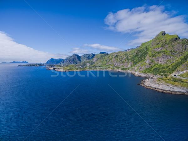 風光明媚な パノラマ 島々 海岸線 ノルウェー ストックフォト © Harlekino