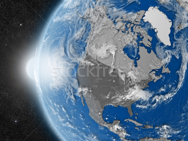 north american continent from space Stock photo © Harlekino