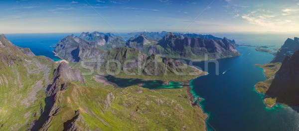 Mozzafiato panorama Norvegia panorama mare Foto d'archivio © Harlekino