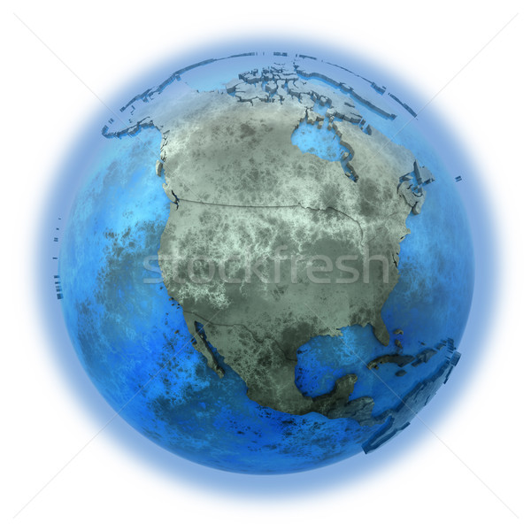 Norte américa mármore planeta terra 3D modelo Foto stock © Harlekino