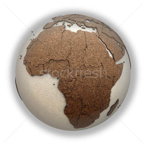 Stockfoto: Afrika · licht · aarde · 3D · model · aarde