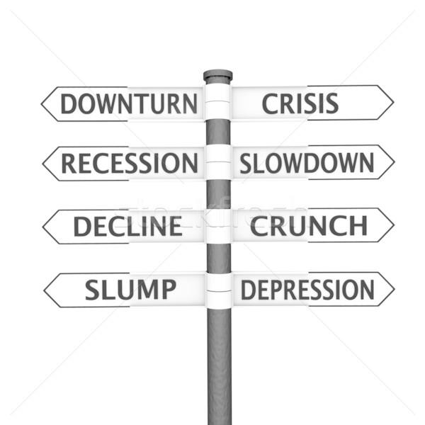 Crisis signpost Stock photo © Harlekino