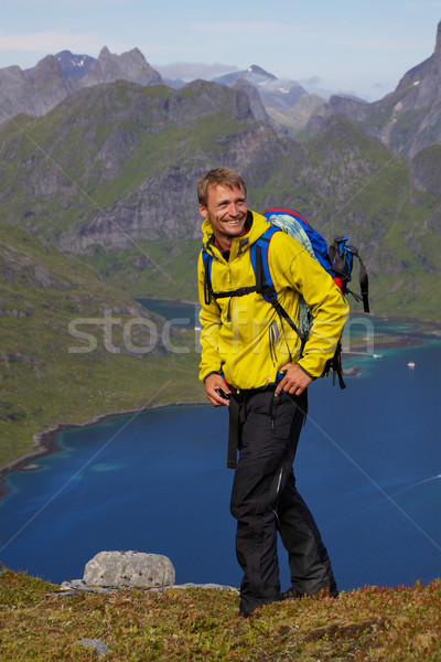 Hiking in Scandinavia Stock photo © Harlekino