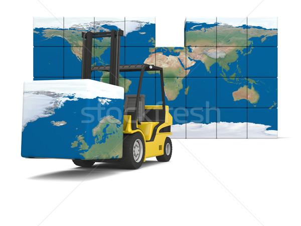 Internazionali logistica moderno giallo Foto d'archivio © Harlekino