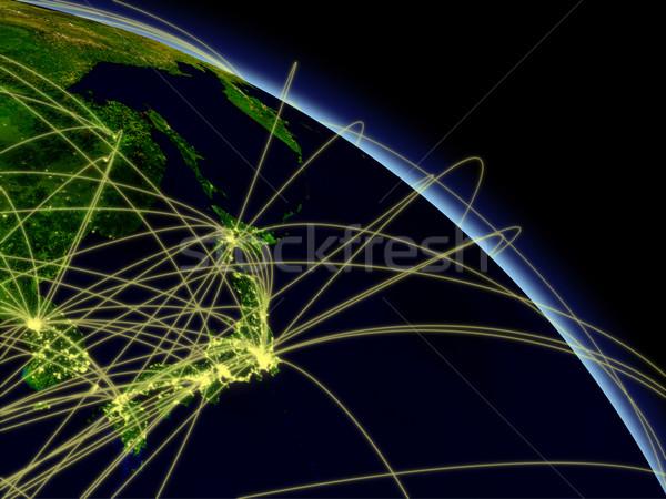 Japon ağ uzay ayrıntılı Stok fotoğraf © Harlekino