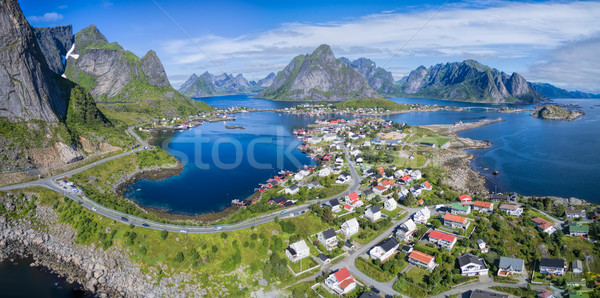 Reine in Norway Stock photo © Harlekino